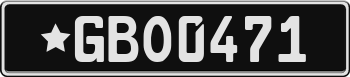 Black European License Plate e3e3e3
