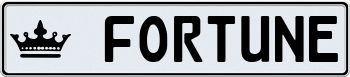 Black Plate With Silver Text 000000