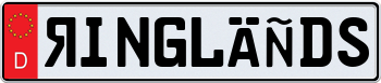Special Edition German License Plate with Red Decal 000000