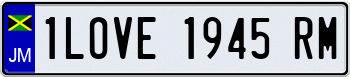 14 Character European License Plate 000000